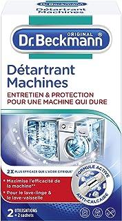 Dr. Beckmann - Détartrant Machines 2x50 g - Pour une machine qui dure plus longtemps - Elimine efficacement le calcaire - ...