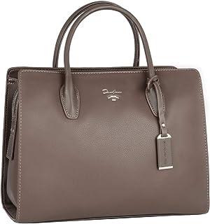 David Jones - Damen Große Handtasche Henkeltasche - Tote Shopper PU Leder - Schultertasche Viele Fächer Multi Pocket - Zip...