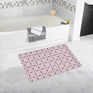 Image Tile Geometric Decorative Custom Non-slip Bath Mat Rug Bath Doormat Floor Rug For Bathroom 20 X 32 Inch