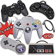 Mekela 5 USB Classic Controllers for PC Windows Computer RetroPie Raspberry Pi HyperSpin and More Emulators