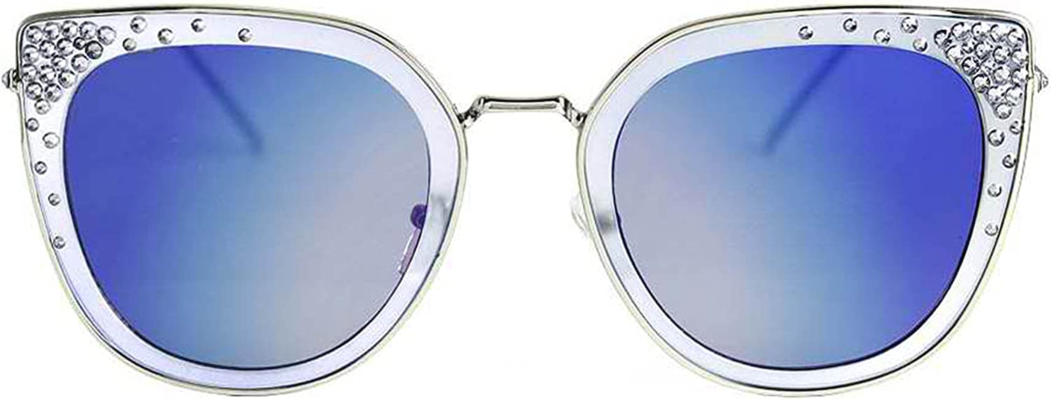Classic Styles in Various color Sunglasses Mirrored Flat Lense Crystal Bling