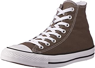 Converse Chuck Taylor All Star Canvas High Top Sneaker, Charcoal, 7 Men/9 US Women