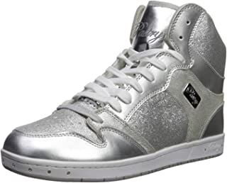 Pastry Glam Pie Glitter Dance Sneakers, Silver, Size 13