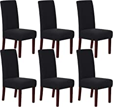 Stretch Dining Chair Slipcovers Jacquard Removable Washable High Dining Room Chair Protector Covers Sets Parson Chair Prot...
