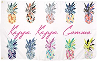 Kappa Kappa Gamma Pop Art Pineapple Sorority Flag Greek Letter Use as a Banner 3 x 5 Feet Sign Decor KKG
