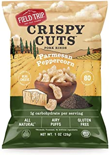 Field Trip Keto Diet Friendly, Low Carb, Parmesan Peppercorn Pork Rinds, 2.5 Ounce (10 Count)