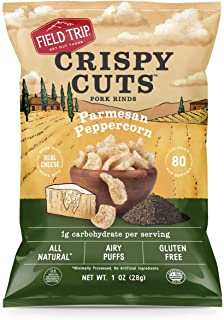 Field Trip Keto Diet Friendly, Low Carb, Parmesan Peppercorn Pork Rinds, 1 Ounce (12 Count)