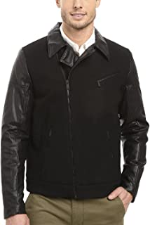 Men's Mix Media Moto Jacket