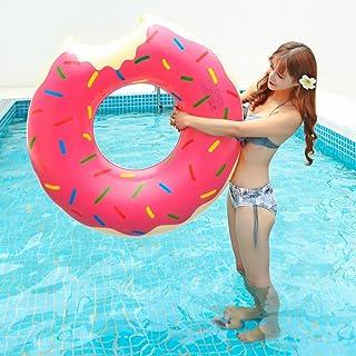 浮き輪 大人用 ジャイアントフロート ドーナツ スウィーツ 90cm ピンク チョコレートトッピング
