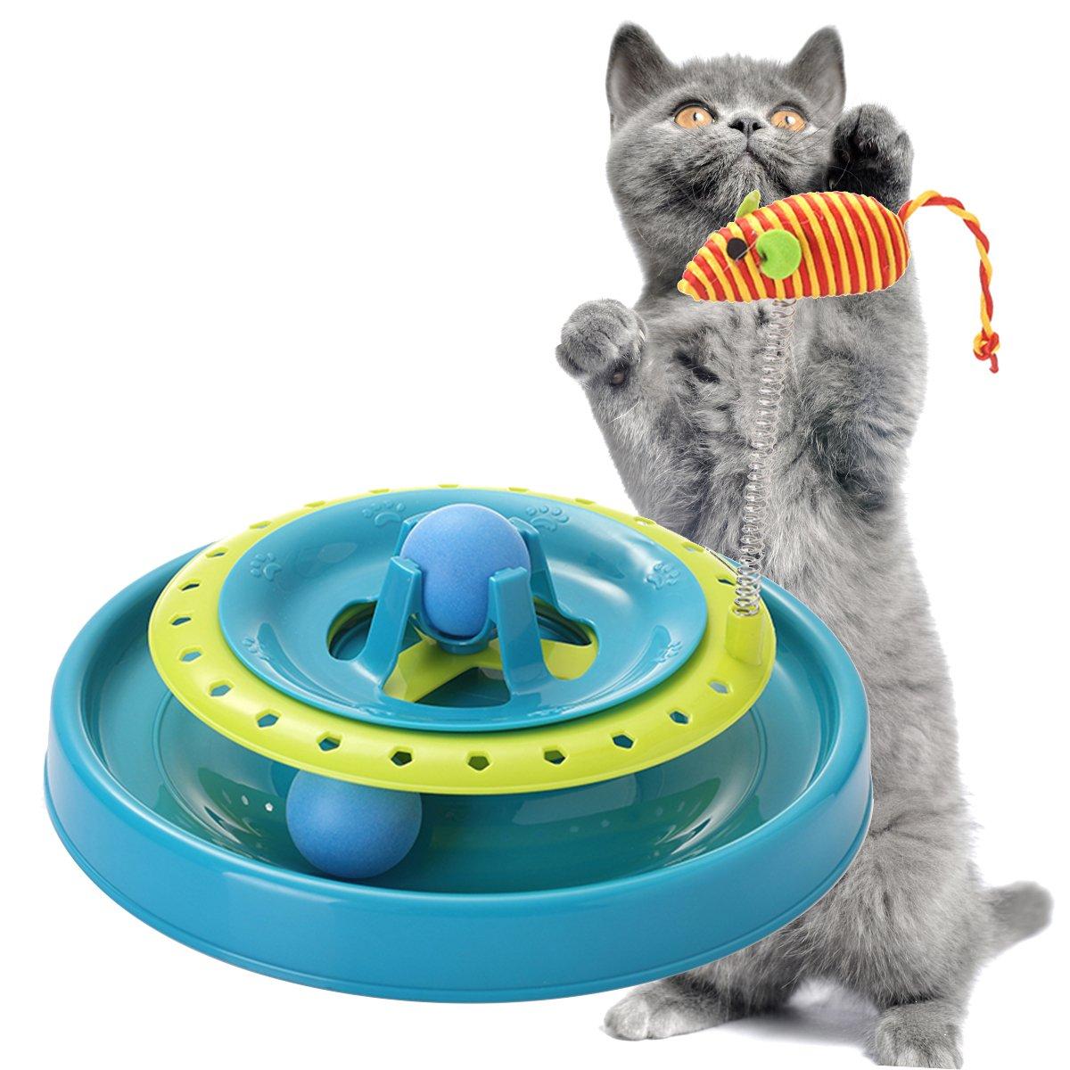 Splink Juguete interactivo para gato con movimiento giratorio de ...