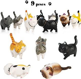 Phogary 9PCS Realistic Cat Figurines, Educational Kitty Figures Toy Set, Kitten Easter Eggs Cake Topper Christmas Birthday Gift for Kids Boys Girls Children Cat Lover