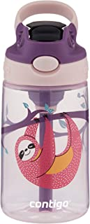 Contigo Kids Water Bottle with Redesigned AUTOSPOUT Straw, 14 oz., Sloth