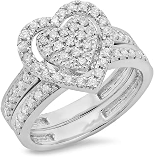 Best diamond heart bridal set Reviews