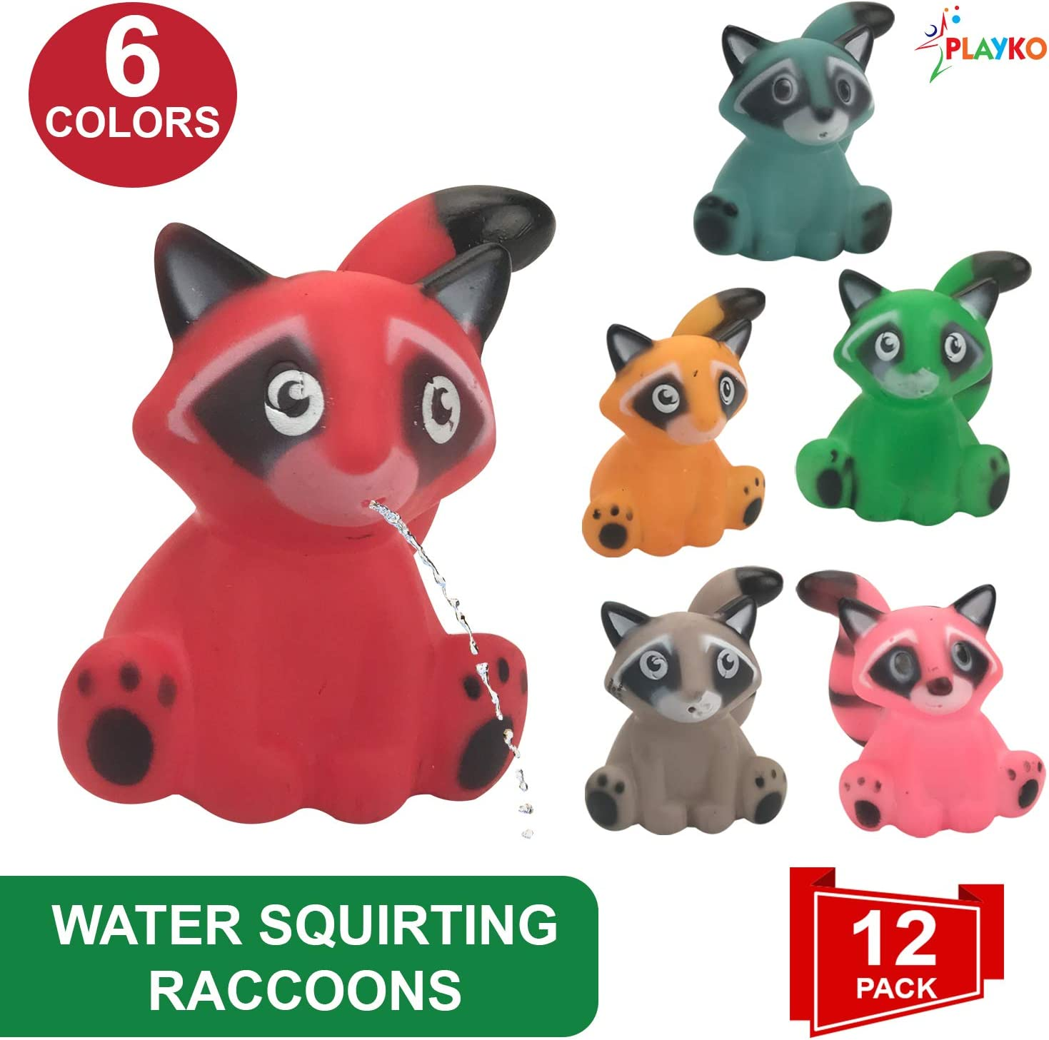 Elephant Water Squirting Bath Toys Pack of 12 Livativ Playko 2 Inch Animal Water Squirter Bath Toys Pack of 12 Animal Shaped Bath Toys for Kids and Toddlers Party Favors Goodie Bag Stuffers