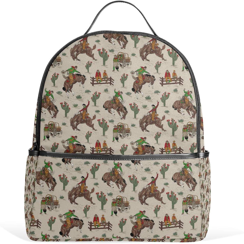 Tan Cowboys 6X6 Backpack for Men Women Back Pack Shoulder Bag Daypacks Teenagers's Travel bagpacks Casual Daypack for Travel