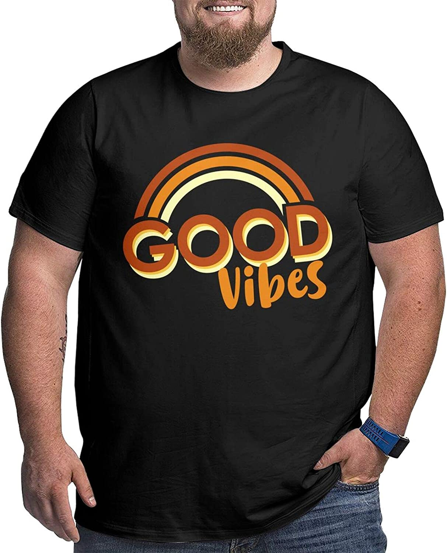 Good Vibes Man's Simple Big Size Summer Outdoor Short Sleeve Tshirt