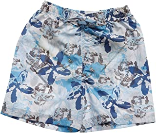 Sportive Çocuk Çiçek Desenli Mavi-Beyaz Yüzme Şort Mayo