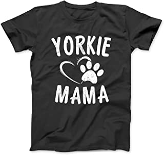 Fun Yorkie Mama Gift Dog Lover Apparel Yorkshire Terrier Mom T-Shirt