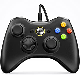 VOYEE Wired Controller Compatible with Microsoft Xbox 360 & Slim/PC Windows 10/8/7, with Upgraded Joystick, Double Shock |...
