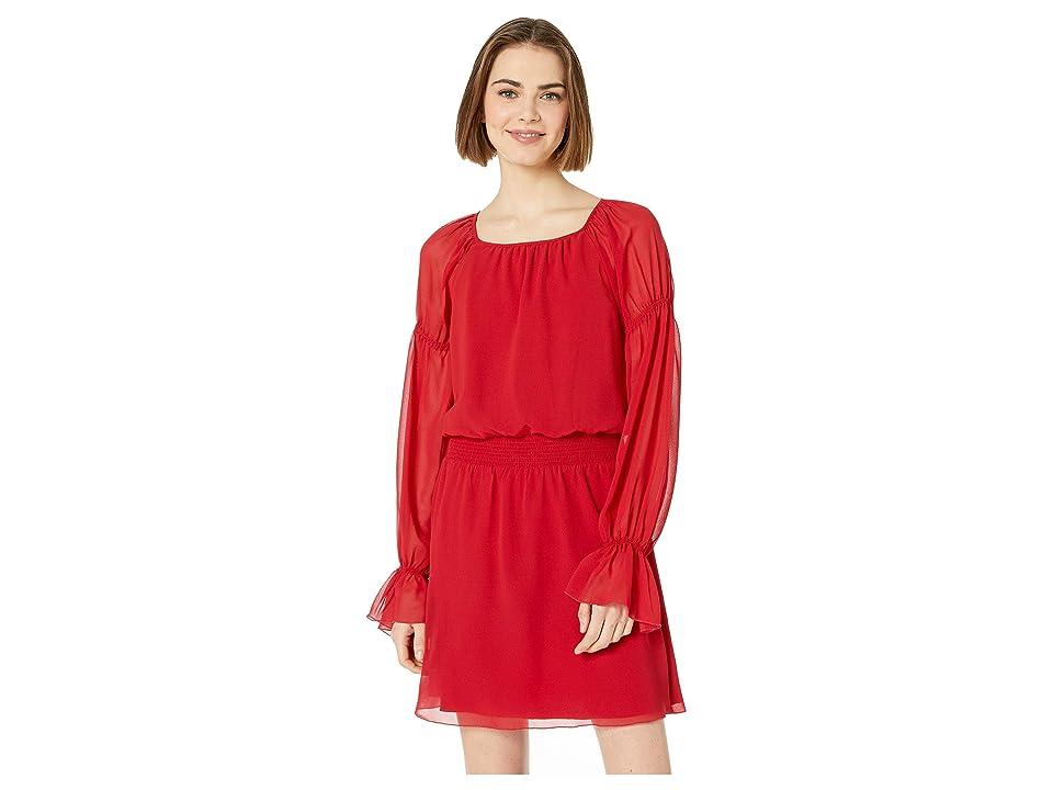 Bebe Poet Woven Dress (Chili Pepper) Women
