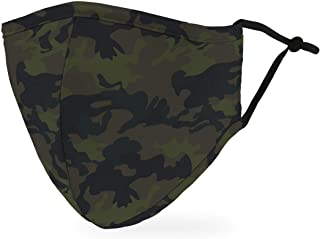 Weddingstar 3-Ply Adult Washable Cloth Face Mask Reusable and Adjustable with Filter Pocket - Camo