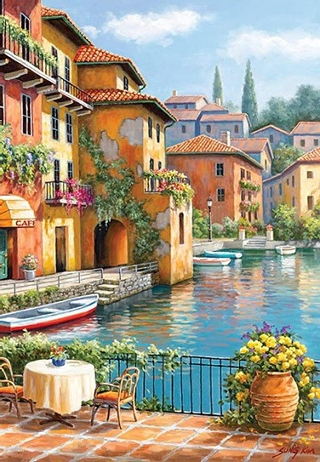 Perre Group 260 Piece Puzzle Cafe at The Canal