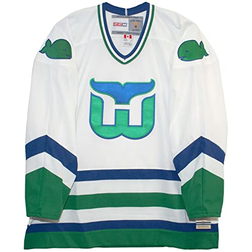 Vintage Hartford Whalers 1979-1983 White Hockey Jersey (XL) bd04b5582