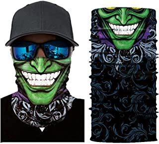 CapsA Novelty Bandanas for Men Face Shield for Music Festivals Dust Protection Variety Magic Face Mask for Riding Outdoors Cycling Motorcycle Head Scarf Neck Balaclava Headband