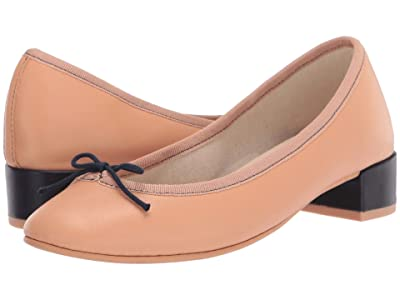 Repetto Lou (Biscuit Nude/Classique Navy Blue) Women