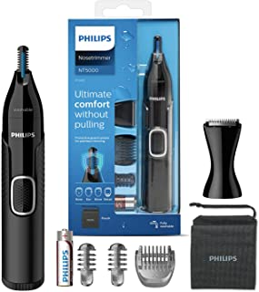 Philips nästrimmer 5000-serien - Trimma näsa, öron- och ögonbrynhår - Fullt tvättbar - Hudskydd - Rostfria blad - Lämplig ...