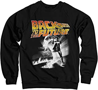 Back To The Future Officially Licensed Poster Sweatshirt (Black)