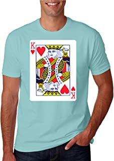 ZoDong Adult Unisex King of Hearts Playing Card Funny Novelty Parody T-Shirt