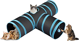 CO-Z Collapsible Cat Tunnel Tube Kitty Tunnel Bored Cat Pet Toys Peek Hole Toy Ball Cat, Puppy, Kitty, Kitten, Rabbit