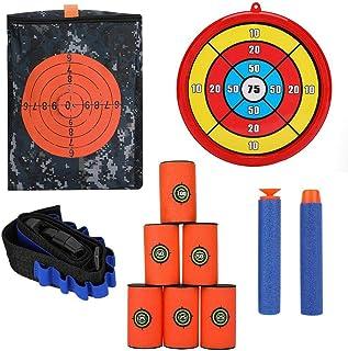 Bolsa de Almacenamiento de Target Pouch para Nerf, Bolsa de Tiro de Target Balas Suaves Muñequera Espuma Puede Apuntar Bullet Clip Kit de Objetivo Redondo para Nerf Juegos de Pistola