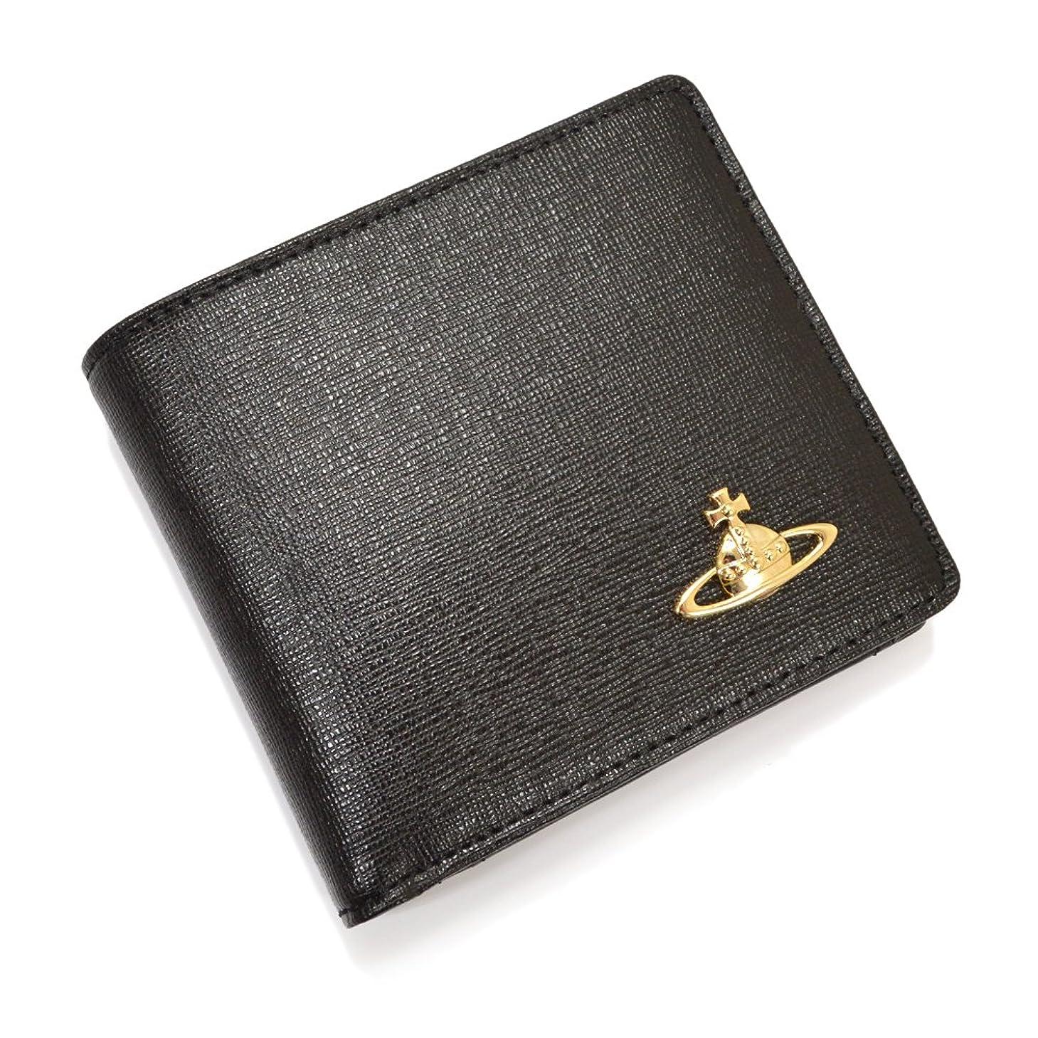レンディションウォルターカニンガムマートVivienne Westwood(ヴィヴィアン ウエストウッド)オーブ 二つ折り財布/yvw404(SAFFIANO 51010009-40153:ブラック)