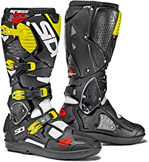 Sidi Crossfire 3 SRS Off Road Motorcycle Boots White/Black/Flo Yellow US10/EU44 (More Size Options)