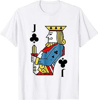 Jack of Clubs Costume T-Shirt Halloween Deck of Cards Shirt