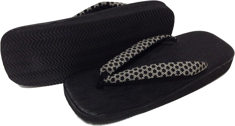 Edoten Japan Hakeme Black Stta Sandals(Back Sponge)