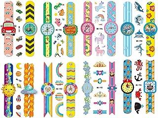 Phogary Temporary Tattoos for Kids 16 Sheets Watch-Design Tattoos with Various Styles of Shark, Car, Unicorn, Spacecraft, Solar, Rainbow, Animal, Mermaid, Pirate Tattoos