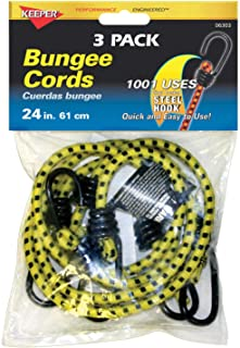 Keeper 06303 24 inch Bungee Cord, 3 Pack