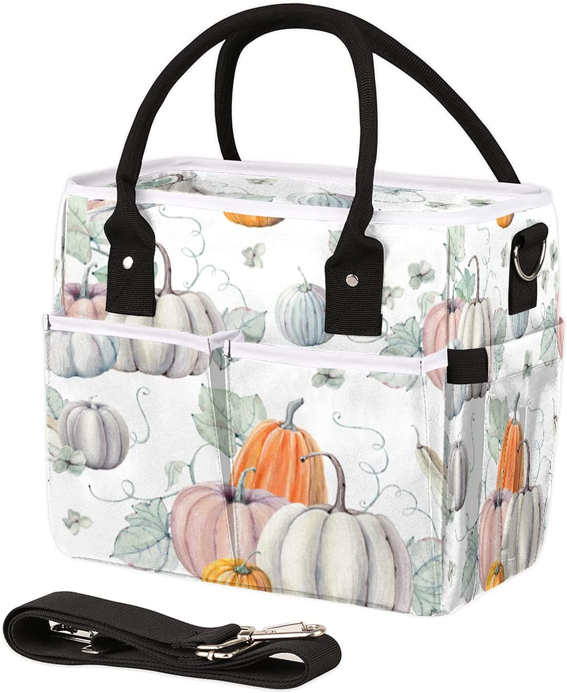 SEAL limited product Insulated Max 60% OFF Lunch Bag for Women Pumpkins Watercolor Leakproof Men