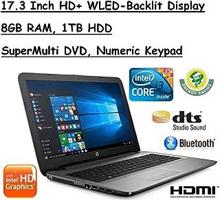 2017 Edition HP 17.3 Inch HD+ (1600x900) SVA BrightView High Performance WLED-Backlit Laptop, Intel Core i3-6100U 2.3GHz, 8GB RAM, 1TB HDD, Win10
