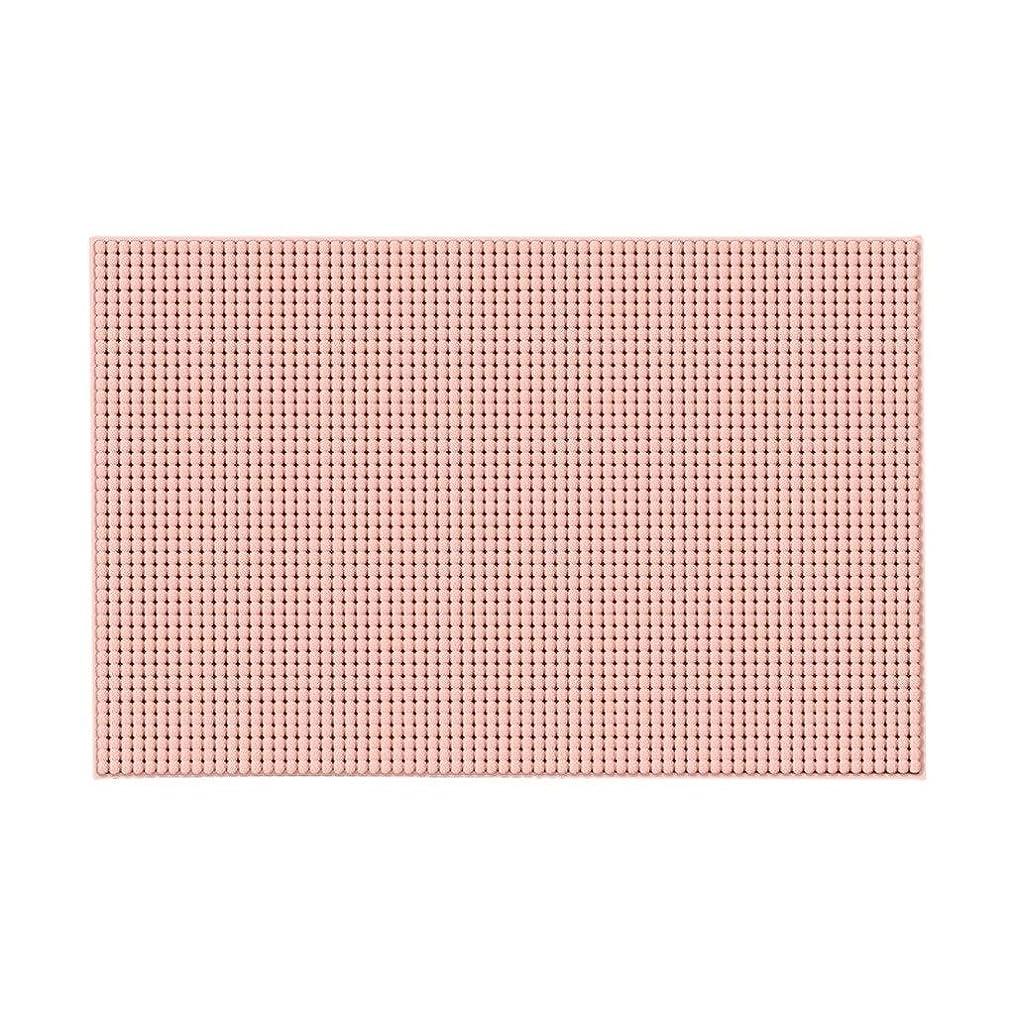 狭い行ジェットい 風呂マット 家庭の浴室マットマットマットフロアマットホームトイレのドア浴室マットラグソフトフロアカーペットスーパー吸収ウォッシャブル (Color : Pink)