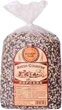 Amish Country Popcorn - Midnight Blue Kernels (6 Pound Bag) - Old Fashioned, Non GMO, and Gluten Free- with Recipe Guide