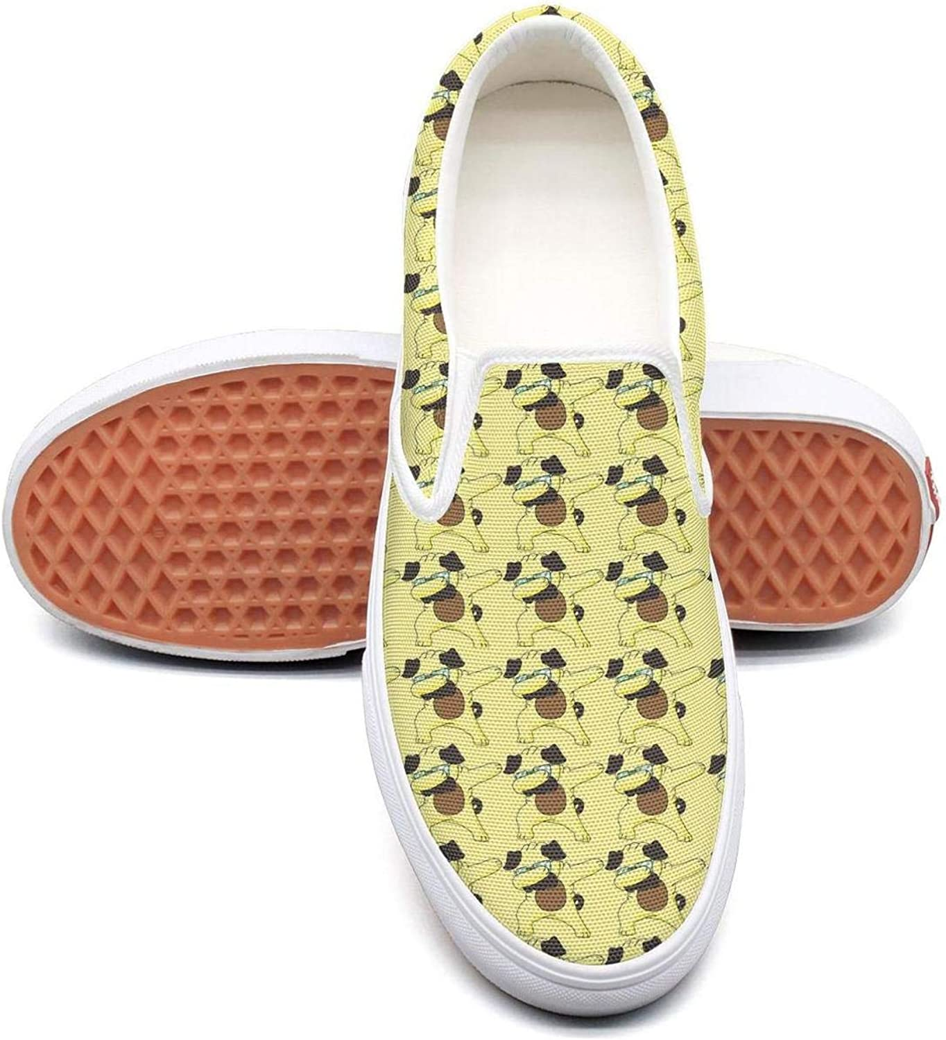 Refyds-es Dabbing Pug Funny Animals Womens Fashion Slip on Low Top Lightweight Canvas Sneaker
