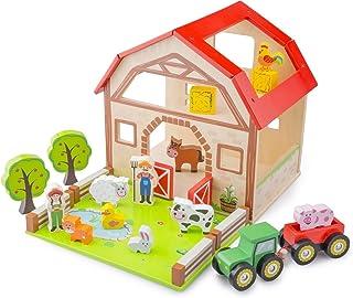 New Classic Toys - 10850 – bondgård lekset – trä