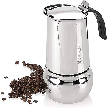 Bialetti Kitty–Italian Espresso Coffee Maker in Stainless Steel, 10 Tasses