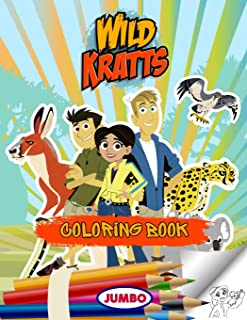 Wild Kratts Coloring Book: Wild Kratts Jumbo Coloring Book For Kids, Premium Quality