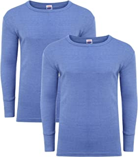 Heatwave® Pack of 2 Men's Thermal Long Sleeve Top, Warm Underwear Baselayer, S M L XL XXL Thermals