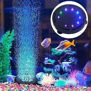 JackSuper Aquarium Air Stone Bubble Light Submersible Fish Tank Air Bubbler LED Light Air Pump Bubble Stone Lamp for Turtle Fish Tank Decoration
